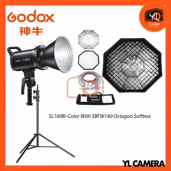 Godox SL100Bi Bi-Color LED With SB-FW140cm Octagon Soft Softbox + 280CM Light Stand (1 Light Kit)