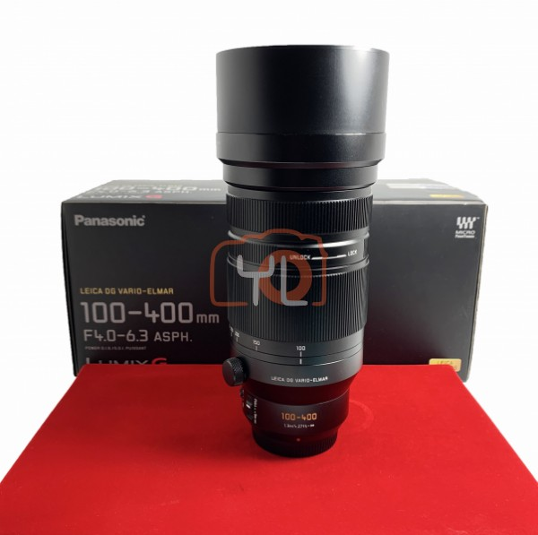 [USED-PJ33] Panasonic Leica 100-400mm F4-6.3 DG Vario-Elmar ASPH. POWER OIS, 90% Like New Condition (S/N:SPJE101774)