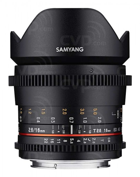 Samyang 16mm T2.6 Full Frame Cine DS Lens for Nikon F Mount