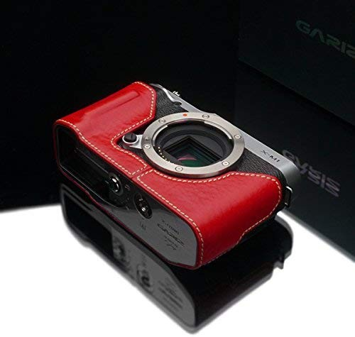 Gariz Genuine Leather Camera Case for Fujifilm X-M1 HG – XM1 , red