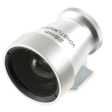 Voigtlander 28mm Metal Brightline Optical Viewfinder (Silver)