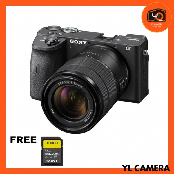 Sony a6600 + E 18-135mm F3.5-5.6 [Free Sony 64GB  Tough UHS II SD Card]