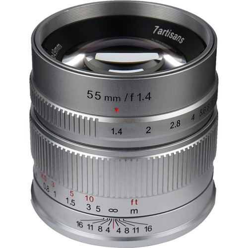 (Pre-Order) 7artisans 55mm F1.4 For Sony E (Silver)