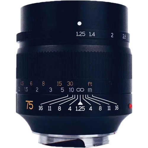 7artisans 75mm F1.25 For Leica M (Black)