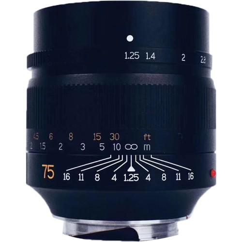 7artisans 75mm F1.25 For Leica M (Black)
