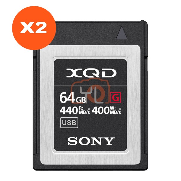 Sony 64GB XQD G Series Memory Card (Pack of 2)