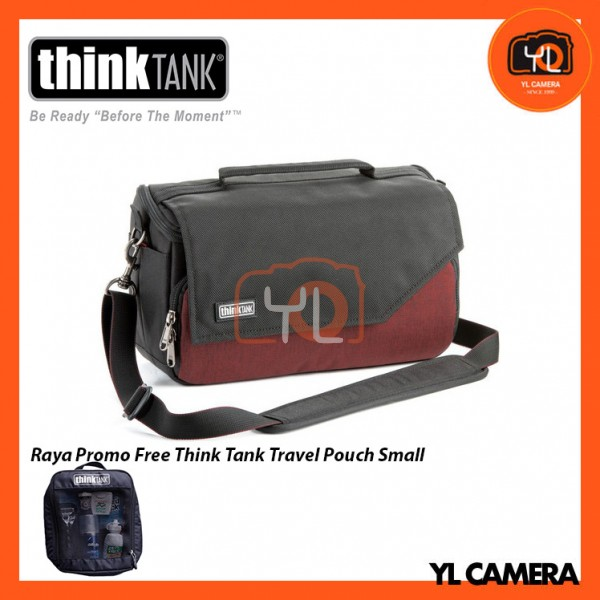 Think Tank Photo Mirrorless Mover 25i Camera Bag (Deep Red) Free Think Tank Photo Travel Pouch - Small