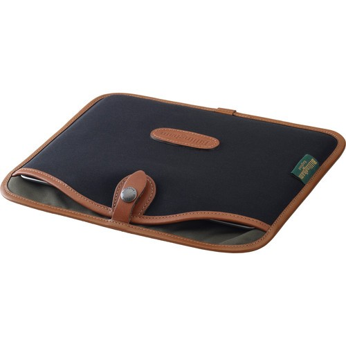 (SPECIAL DEAL) Billingham Tablet Slip (Black Canvas & Tan Leather Trim)