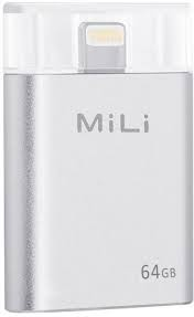 MiLi iData 64GB Flash Drive (SILVER) for Apple Lightning Devices
