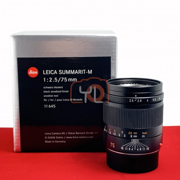 [Display Unit-PJ33] Leica 75mm F2.5 Summarit-M 11645, 98% Like New Condition (S/N:4194046)