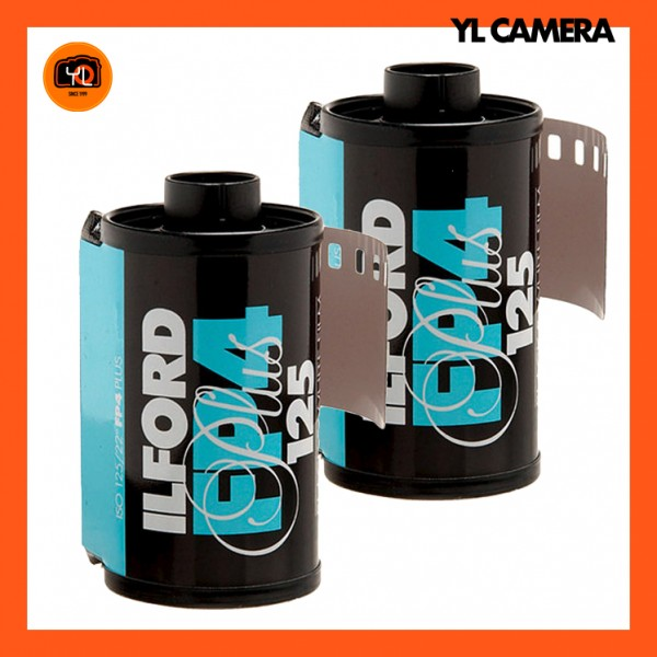 Ilford FP4 Plus Black and White Negative Film (35mm Roll Film, 36 Exposures) – Pack of 2
