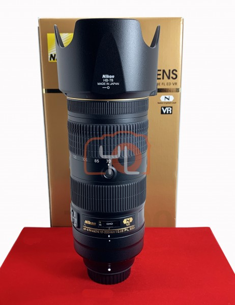 [USED-PJ33] Nikon 70-200mm F2.8 E FL VR AFS, 90% Like New Condition (S/N:211950)