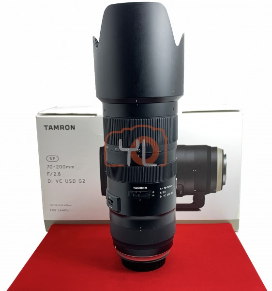 [USED-PJ33]  Tamron 70-200mm F2.8 G2 DI VC USD (Canon), 85% Like New Condition (S/N:016548)