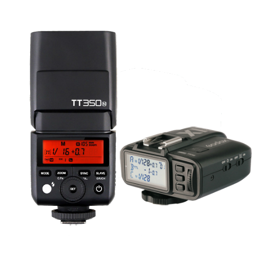 Godox TT350N Mini Thinklite TTL Flash for Nikon Cameras Combo Set X1TN