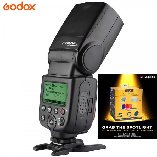 Godox TT685N Thinklite TTL Flash for Nikon + Digitek Flash BOT Kit DFB-001 Combo Set