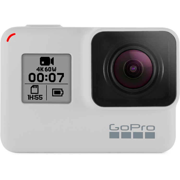 GoPro HERO7 Black (Limited Edition Dusk White) WITH GOPRO SHORTY WHITE