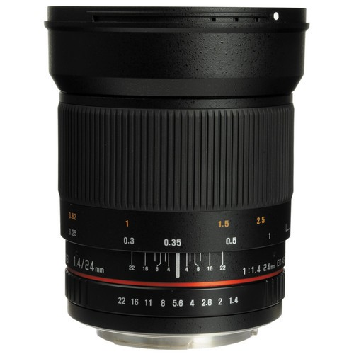 Samyang 24mm F1.4 ED AS UMC Wide-Angle Lens for Nikon F Mount with AE Chip