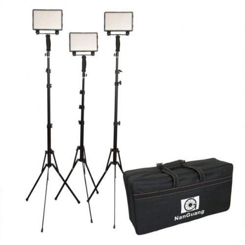 (Pre-Order) Nanguang LED CN-5400 PRO Kit With Light Stand 3 X LED Light 23cm X 20cm