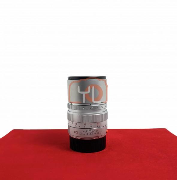 [USED-PJ33] Leica 90MM F2.8 Elmarit-M (Silver) , 90% Like New Condition (S/N:379546)