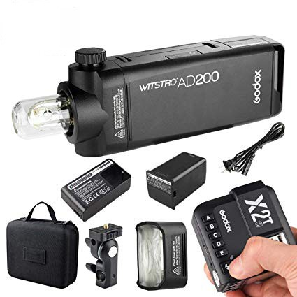 Godox AD200Pro TTL Pocket Flash Kit X2T-N Nikon Combo Set
