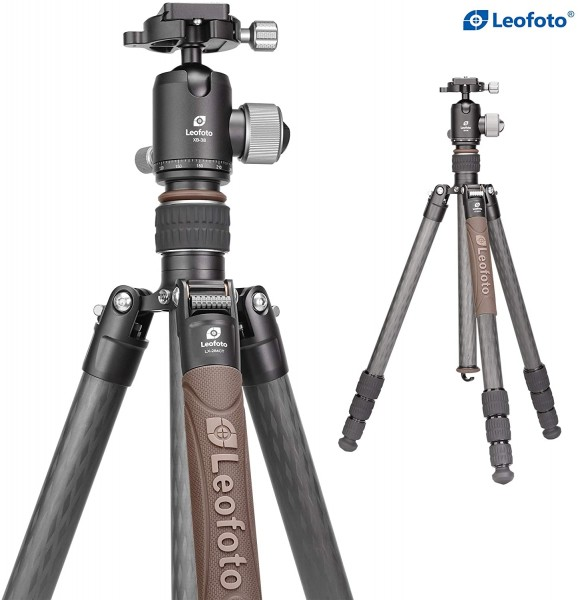 Leofoto Urban LX-284CT+XB-38 4 Section Compact Carbon Fibre Tripod w/ Ball Head