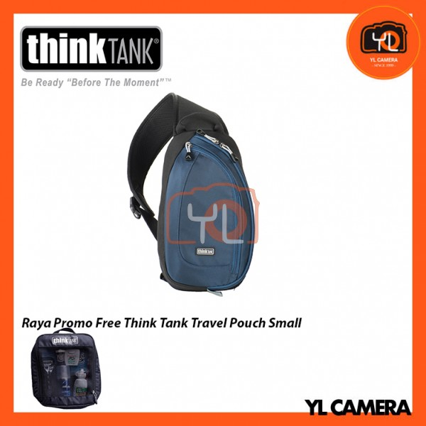 Think Tank Photo TurnStyle 10 V2.0 Sling Camera Bag (Blue Indigo) Free Think Tank Photo Travel Pouch - Small