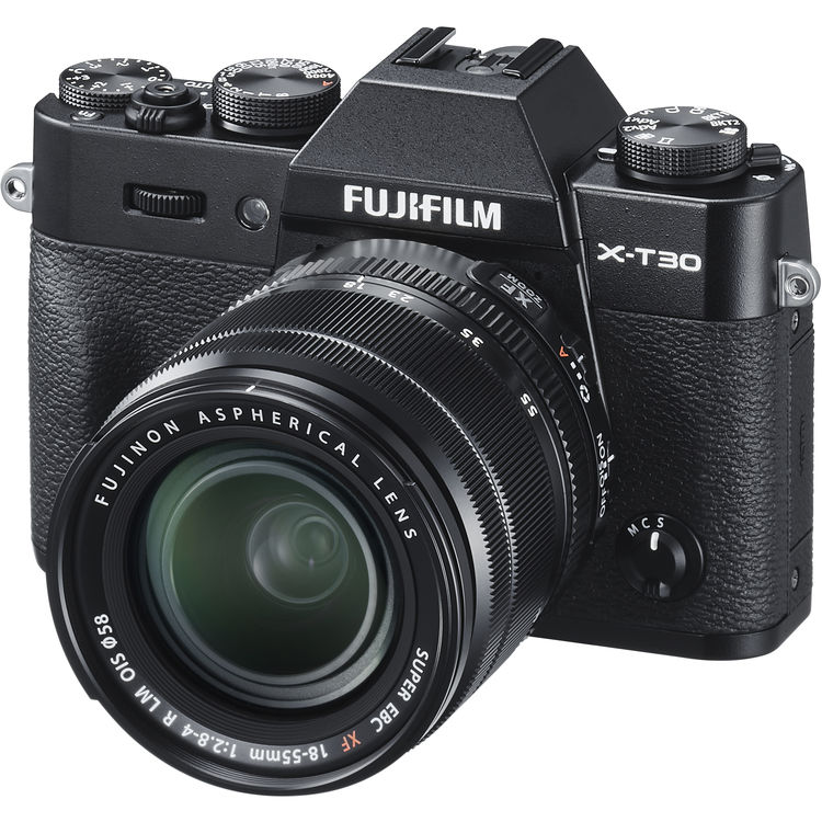 Fujifilm X-T30 (Black) + XF 18-55mm f/2.8-4R LM OIS [Free 32GB SD Card]