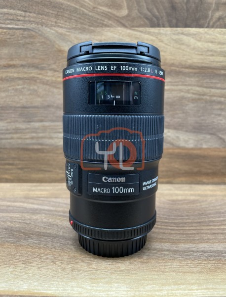 [USED @ YL LOW YAT]-Canon EF 100mm F2.8 L Macro IS USM Lens,90% Condition Like New,S/N:7115472