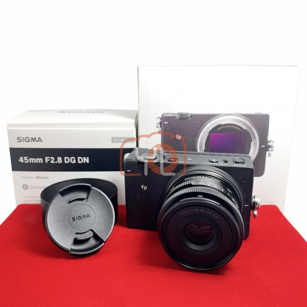 [USED-PJ33] Sigma FP With 45MM F2.8 DG DN Lens, 95% Like New Condition (S/N:91401852)