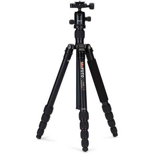(SPECIAL DEAL) Mefoto A1350Q1A RoadTrip Aluminum Travel Tripod Kit (Black)