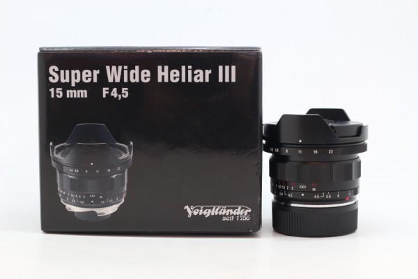 [USED-PUDU] Voigtlander 15mm F4.5 Super Wide-Heliar Aspherical III LENS (FOR LEICA M-MOUNT) 95%LIKE NEW CONDITION SN:08541490
