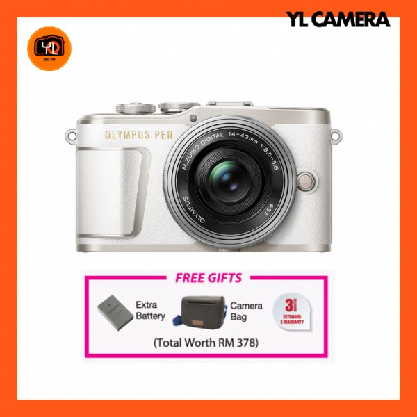 (CNY Offer) Olympus E-PL9 +  M.Zuiko 14-42mm EZ (White) [Free Online Redemption Extra Battery & Camera Bag Worth RM378]
