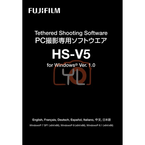 FUJIFILM HS-V5 Tethered Shooting Software