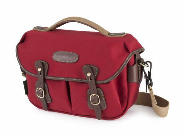 Billingham Hadley Small Pro Camera Bag (Burgundy Canvas / Chocolate Leather)