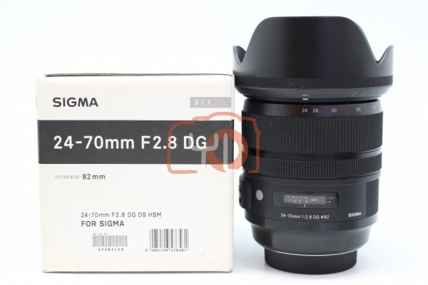 [USED-PUDU] Sigma 24-70mm F2.8 DG OS HSM Art Lens (Sigma Mount) 85%LIKE NEW CONDITION SN:52383129 ***LIGHT SCRATCH ON FRONT ELEMENT***