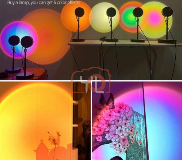 Sunset Lamp With Changeable Sunset Diffuser  RGB Sunset lamp MM-85 RGB Sunset lamp