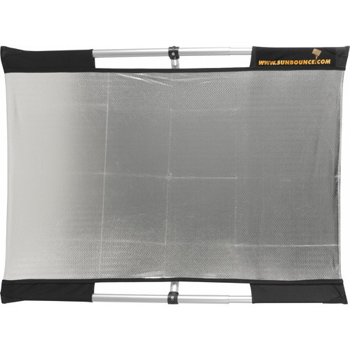 (Promotion) California Sunbounce Micro Mini Sun-Bounce Kit - Silver/White Screen (2x3')