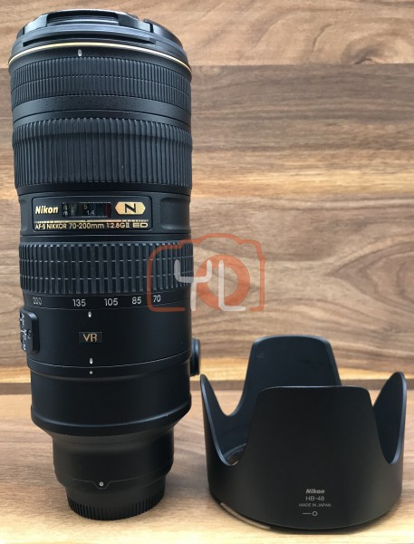 [USED @ YL LOW YAT]-Nikon AF-S 70-200mm F2.8 G II ED N VR Lens,90% Condition Like New,S/N:20127102