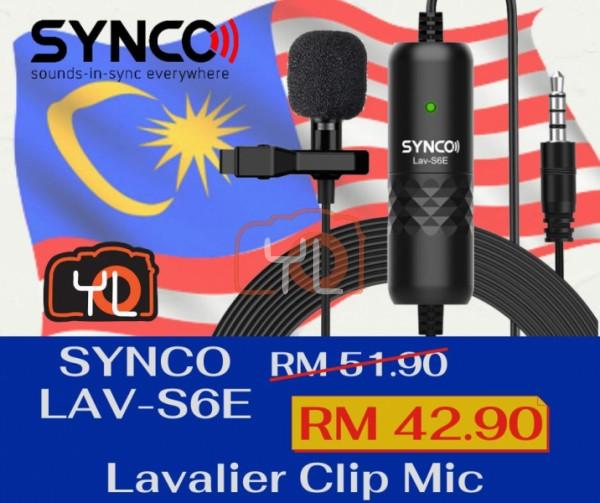 Synco Audio LAV-S6E Clip-On Omnidirectional Condenser Microphone