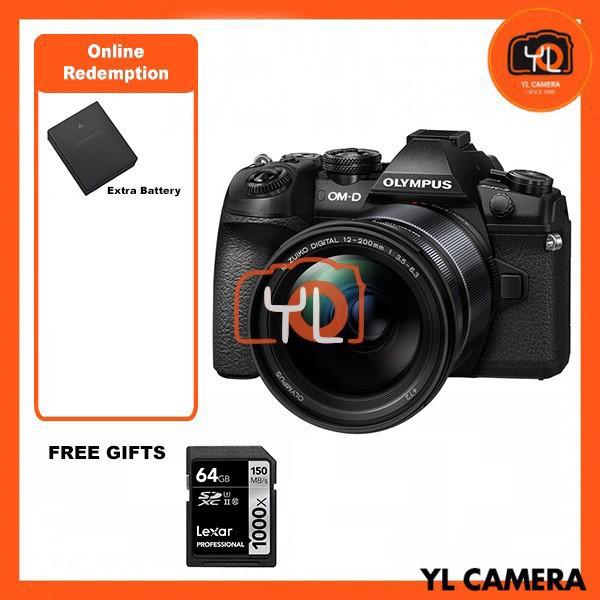 Olympus OM-D E-M1 Mark II + M. Zuiko 12-200mm F3.5-6.3 - Black  (FREE Lexar 64GB 150MB SD Card) [Online Redemption Extra Battery]