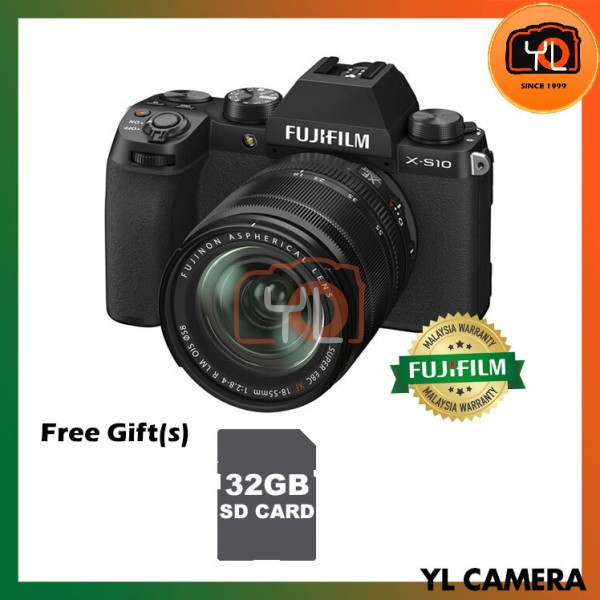 Fujifilm X-S10 W/ 18-55mm - Black (Free 32GB SD Card)
