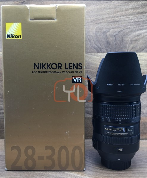 [USED @ YL LOW YAT]-Nikon AF-S 28-300mm F3.5-5.6 G ED VR Lens,90% Condition Like New,S/N:52005186