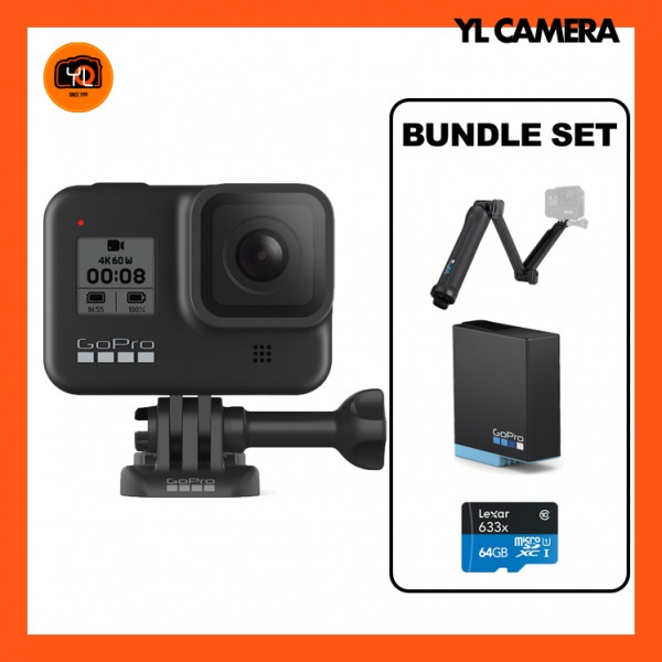 (Promo) GoPro HERO8 Black - 3-Way Bundle Set