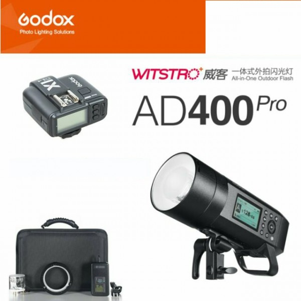 Godox AD400Pro Witstro All-In-One Outdoor Flash X1T-N Nikon Combo Set