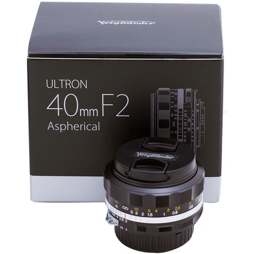 Voigtlander 40mm F2 Ultron SL II S Aspherical Lens - Black (For Nikon F)