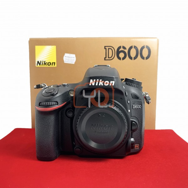 [USED-PJ33] Nikon D600 Body (Shutter Count : 4000), 95% Like New Condition (S/N:8046206)