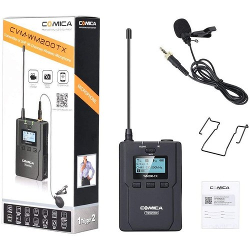 (PRE-ORDER) Comica Audio CVM-WM200TX Wireless Bodypack Transmitter with Omni Lavalier Microphone