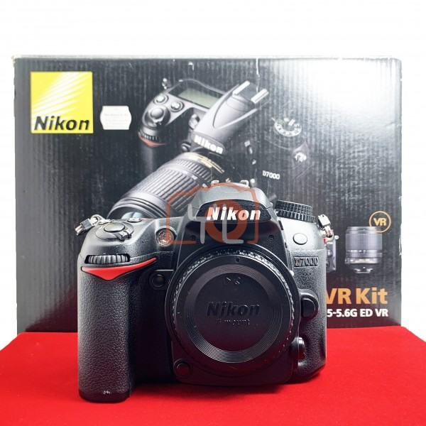 [USED-PJ33] Nikon D7000 Body, 85% Like New Condition (S/N:8009722)