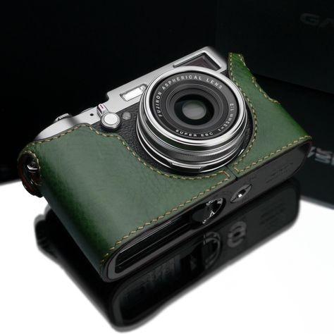 Gariz Genuine Leather CO-X100G Camera Metal Half Case for X100 Fujifilm