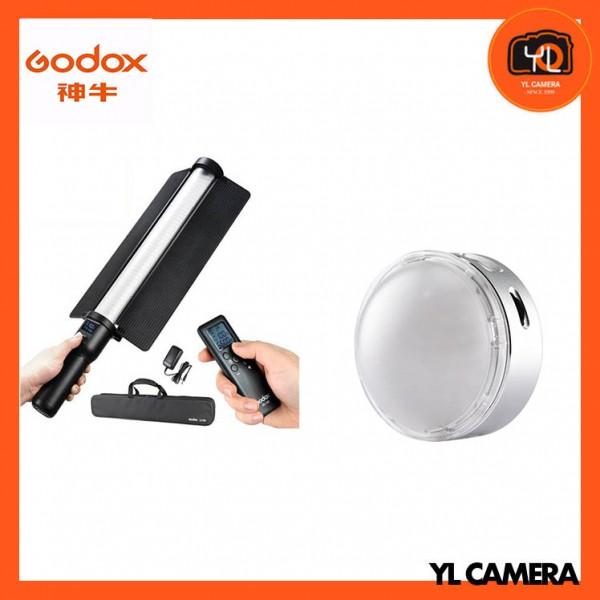 Godox LC500 LED Light Stick With R1 Round RGB Mini Creative Light Combo Set